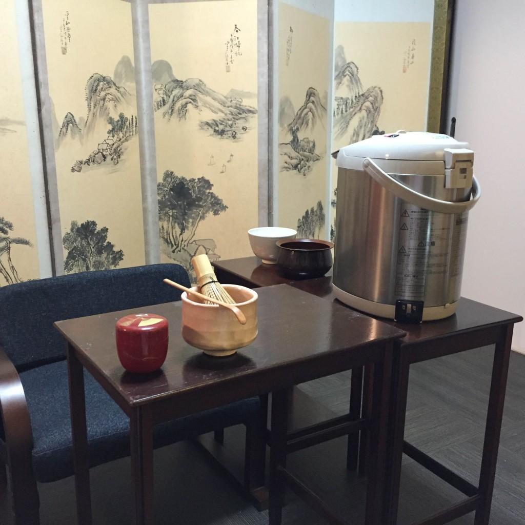 テーブルでできる茶道