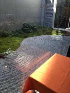 京カフェコムサ 石庭