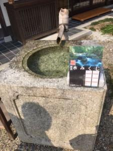 梨木神社 水みくじ