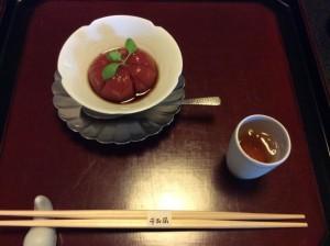 千寿閣 トマト寒天