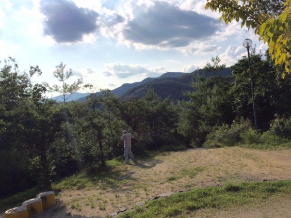 京都・五山の送り火 平安京造設の地、船岡山から