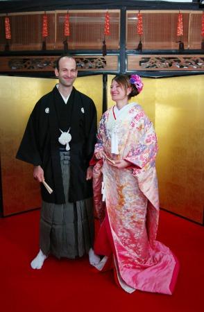 紋付袴と打掛